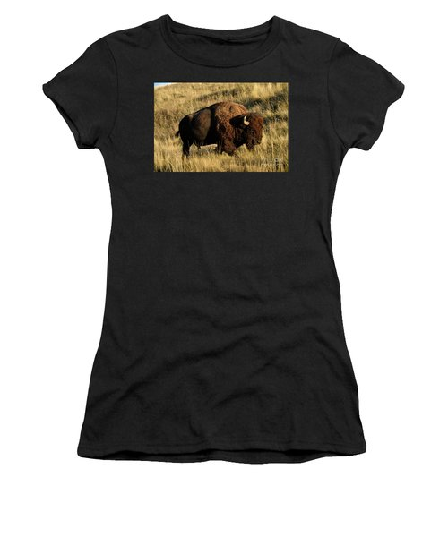 Bison  Women's T-Shirt (Athletic Fit)