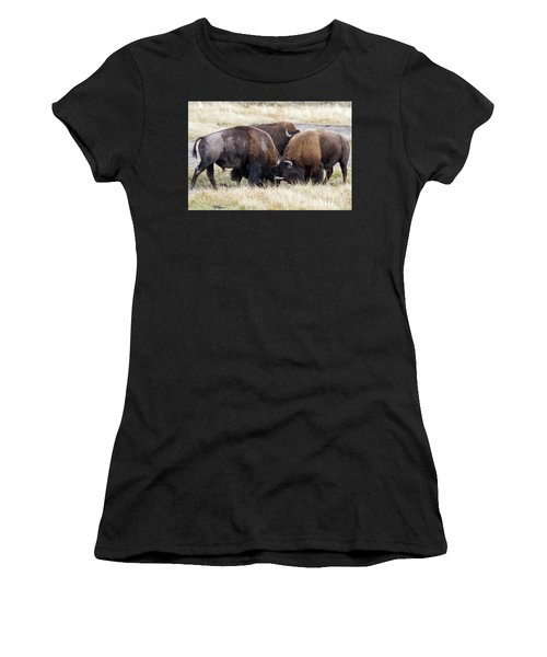 Bison Fight Women's T-Shirt