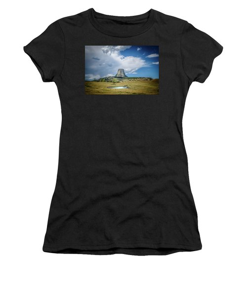 Bison Pond Women's T-Shirt (Athletic Fit)