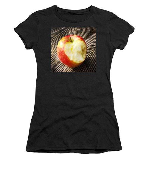 Bitten Red Apple Women's T-Shirt