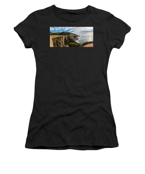 Bixby Creek Bridge Big Sur California  Women's T-Shirt (Junior Cut) by John McGraw
