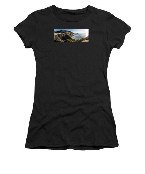 Bixby Bridge Panaramic  Women's T-Shirt
