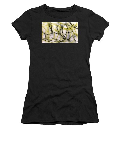 Black And Green Abstract Women's T-Shirt