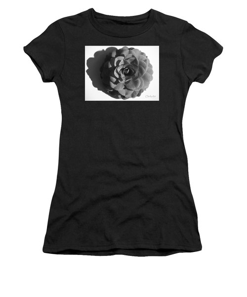 Camellia In Black And White Women's T-Shirt