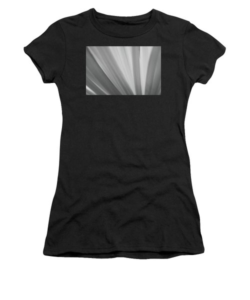 Black And White Mum Petals Women's T-Shirt