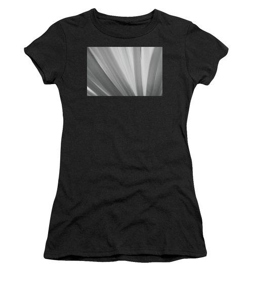 Black And White Mum Petals Women's T-Shirt