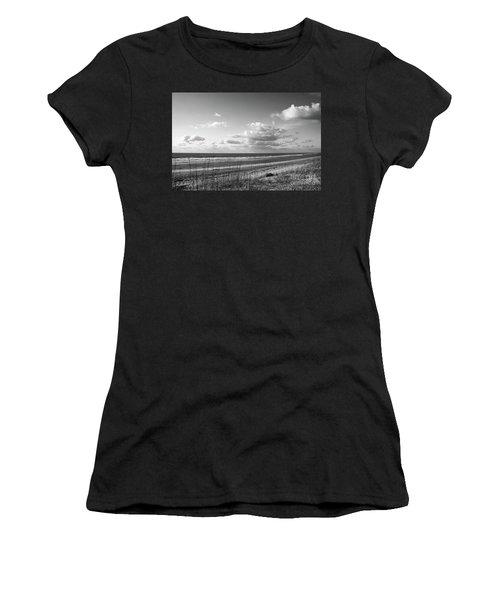 Black And White Ocean Scene Women's T-Shirt