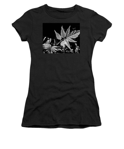 Black And White On The Forest Floor Women's T-Shirt (Athletic Fit)