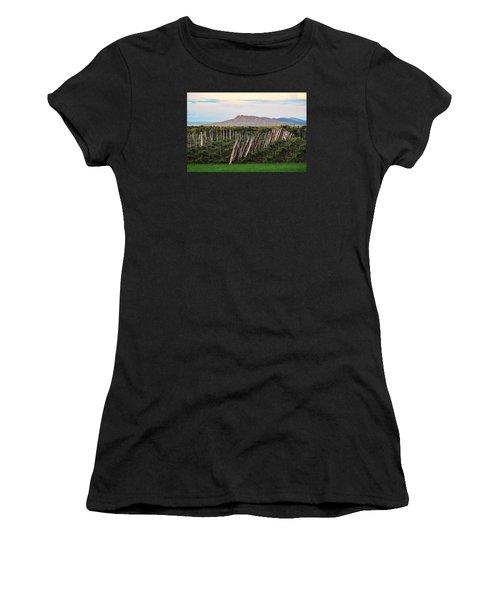 Black Birch Vineyard And Summit House View Women's T-Shirt