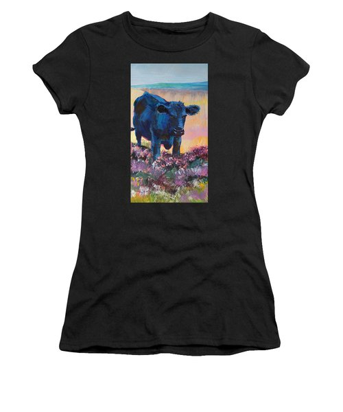 Black Cow On Dartmoor - Looking Moody Women's T-Shirt
