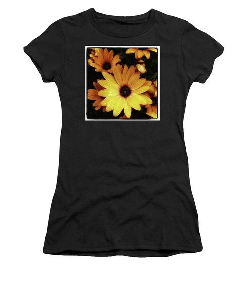 Women's T-Shirt featuring the photograph Black Eyed Susans. Looks Like They're by Mr Photojimsf