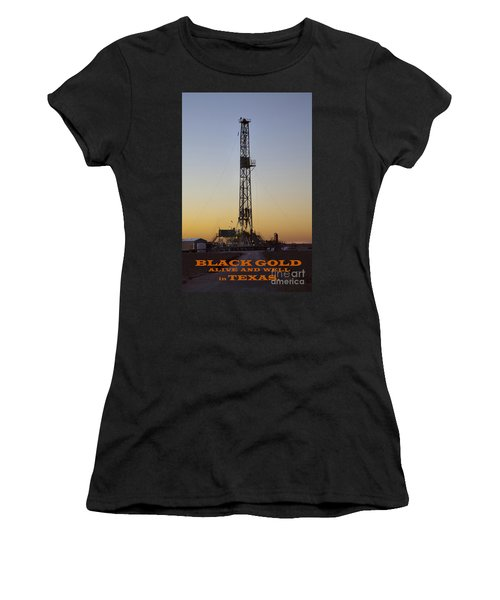 Black Gold Women's T-Shirt (Athletic Fit)