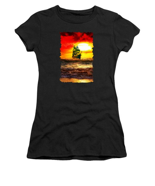 Black Pearl Women's T-Shirt (Athletic Fit)