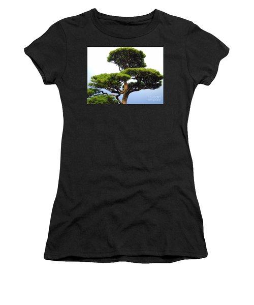 Black Pine Japan Women's T-Shirt (Junior Cut) by Susan Lafleur