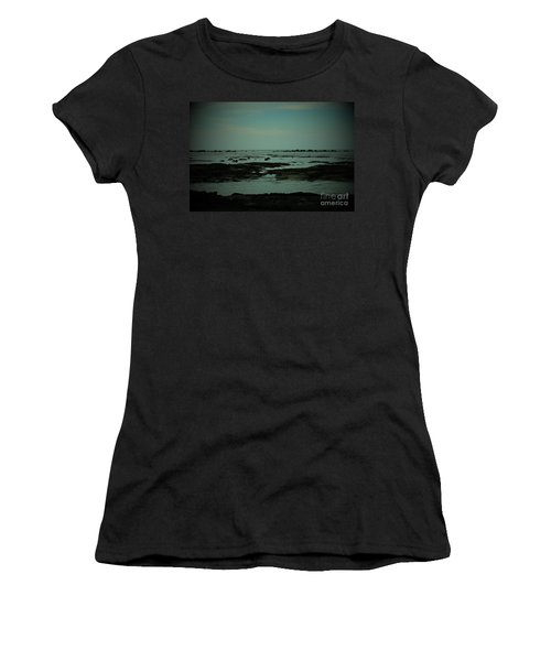 Black Rock Beach Women's T-Shirt (Athletic Fit)