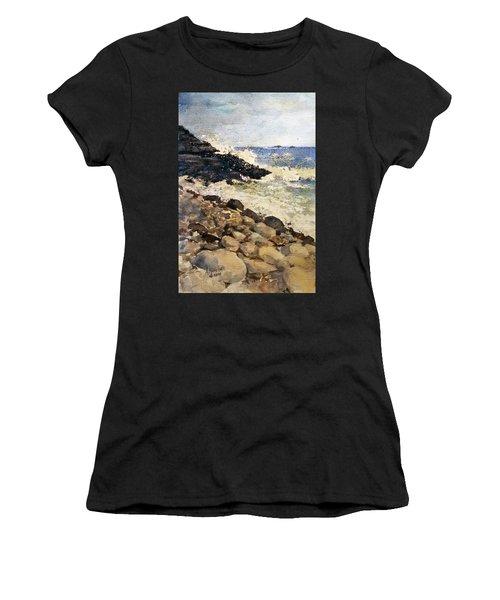 Black Rocks - Lake Superior Women's T-Shirt (Athletic Fit)