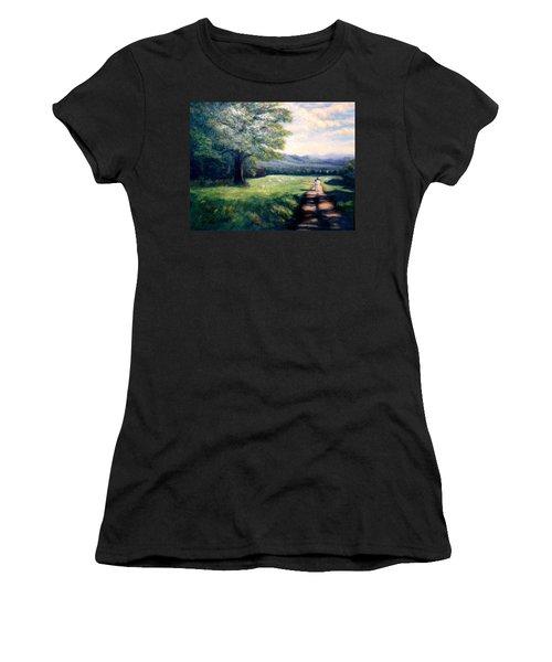 Black Sheep Women's T-Shirt (Junior Cut) by Gail Kirtz