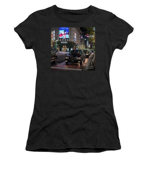 Black Taxi In Tokyo, Japan Women's T-Shirt (Athletic Fit)