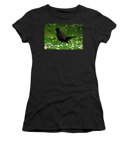 Blackbird Women's T-Shirt (Junior Cut) by John Topman