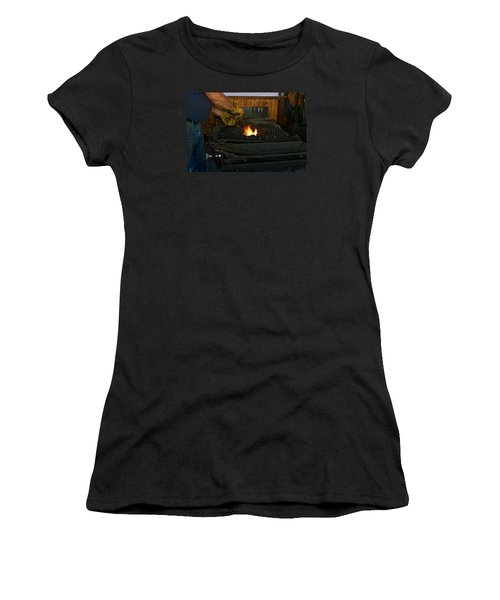 Blacksmith At Work Women's T-Shirt (Athletic Fit)