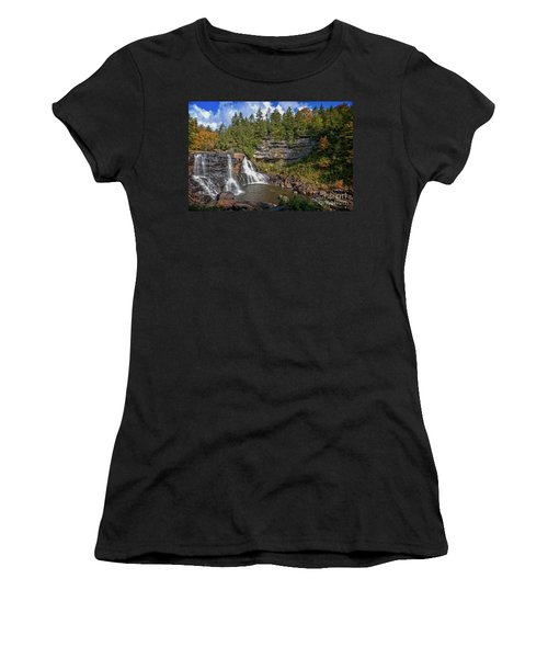 Blackwater Falls  In Autumn 3879c Women's T-Shirt (Athletic Fit)