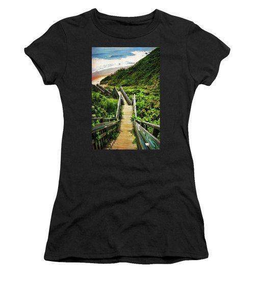 Block Island Women's T-Shirt (Athletic Fit)