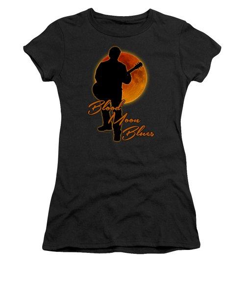Blood Moon Blues T Shirt Women's T-Shirt (Junior Cut) by WB Johnston
