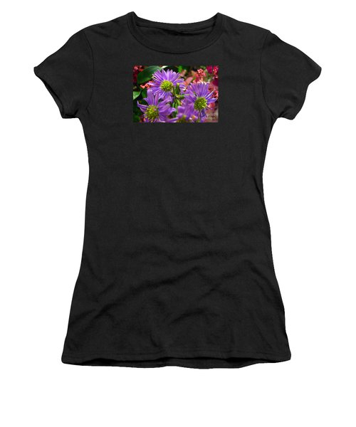 Women's T-Shirt (Junior Cut) featuring the photograph Blooming Asters by Merton Allen
