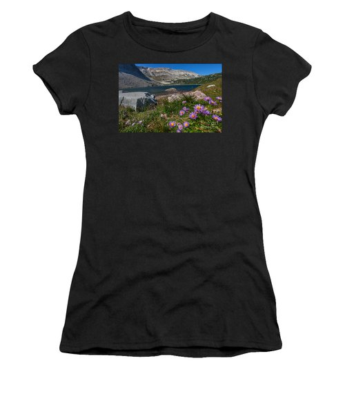 Blooming In Snowy Range Women's T-Shirt (Athletic Fit)