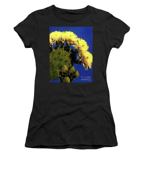 Blooming Prickly Pear Women's T-Shirt (Athletic Fit)
