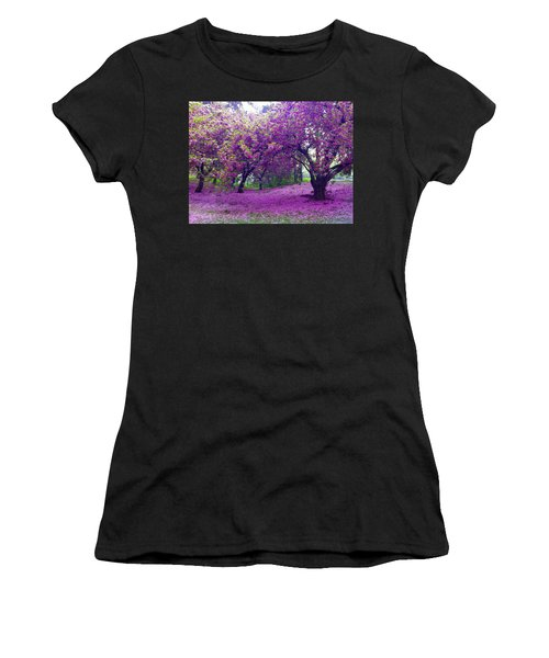 Blossoms In Central Park Women's T-Shirt