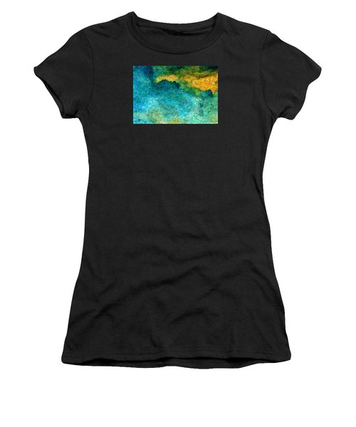 Blue Abstract #5 Women's T-Shirt (Athletic Fit)