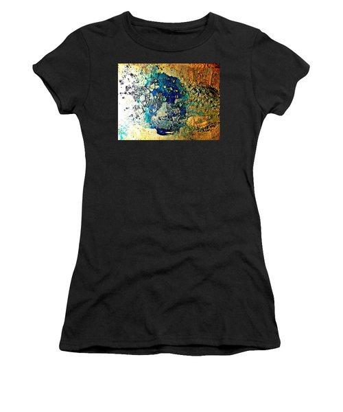 Blue Abstract Women's T-Shirt
