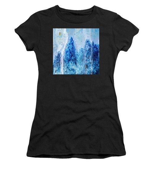 Women's T-Shirt featuring the photograph Blue Abstract Two by David Waldrop