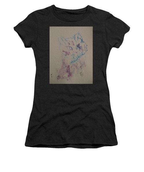 Blue And Purple Cat Women's T-Shirt