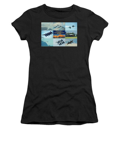 Women's T-Shirt featuring the photograph Blue Angels Compilation by Dan McManus