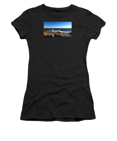 Blue Atlantic Women's T-Shirt (Junior Cut) by Heather Vopni