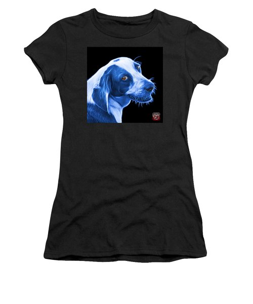 Blue Beagle Dog Art- 6896 - Bb Women's T-Shirt (Athletic Fit)