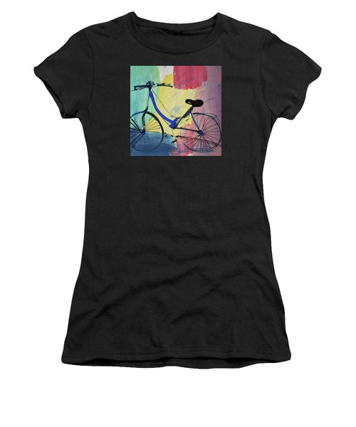 Blue Bicycle Women's T-Shirt (Athletic Fit)