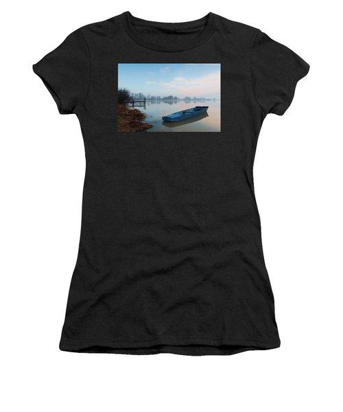 Blue Boat Women's T-Shirt (Athletic Fit)