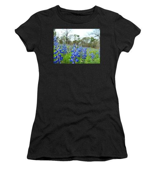 Blue Bonnet Explosion II Women's T-Shirt (Athletic Fit)