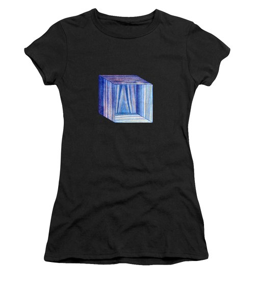 Blue Box Sitting Women's T-Shirt