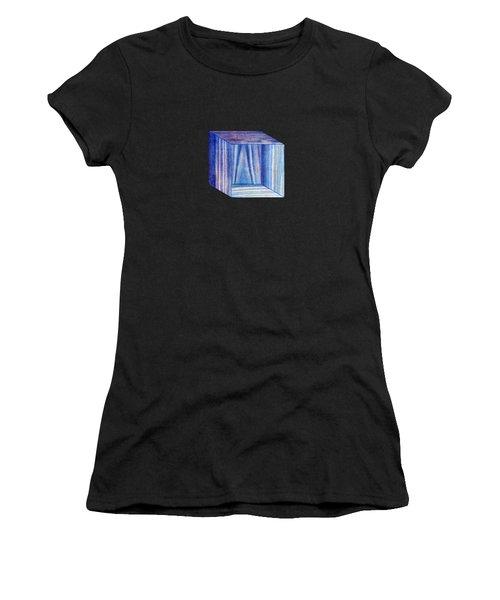 Blue Box Sitting Women's T-Shirt