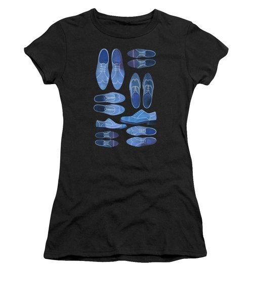 Blue Brogue Shoes Women's T-Shirt