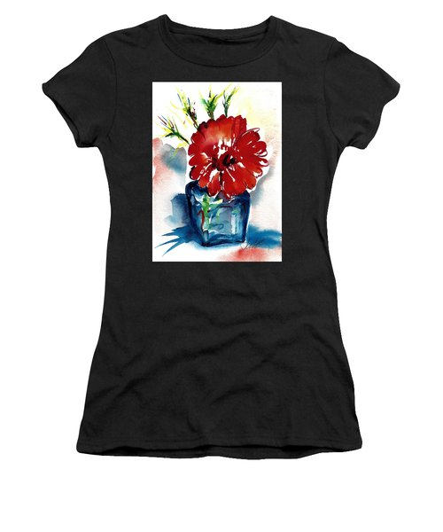 Blue Bud Vase Women's T-Shirt (Athletic Fit)
