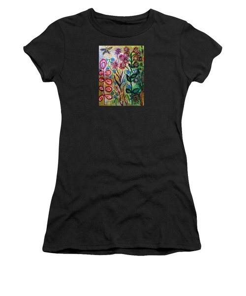 Blue Bug In The Magic Garden Women's T-Shirt