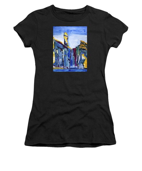 Blue Cliffs, Sea And Sky Women's T-Shirt (Athletic Fit)