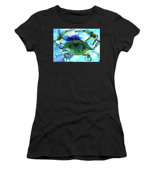 Blue Crab - Abstract Seafood Painting Women's T-Shirt
