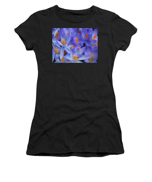 Blue Crocuses Women's T-Shirt (Athletic Fit)