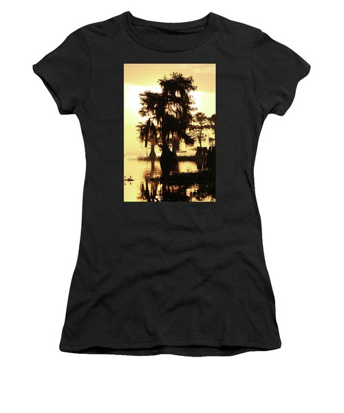 Blue Cypress Yellow Light Women's T-Shirt
